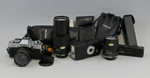 8470006 Spiegelreflexkamera Minolta XG-1 mit Zubehör 3 Objektive Tokina Foto