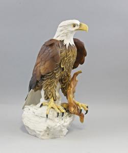9941474 Vogel Porzellan Figur Großer Weißkopfseeadler Ens H45cm