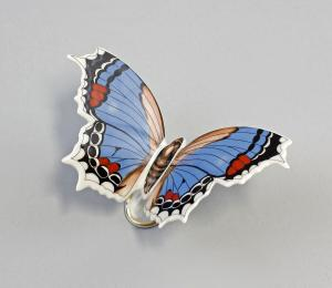 9944141 Schmetterling Falter groß blau Kämmer 10x7x7cm