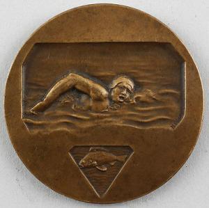 99808025 Bronze-Medaille Schwimmer Demey Dubois