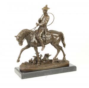 99937613-dss Bronze Skulptur Ludwig XV. auf Pferd Figur Reiter neu