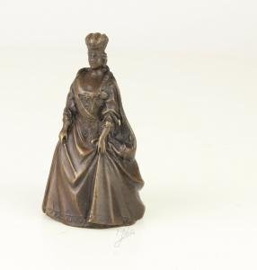 99937638-dss Bronze figürliche Glocke Königin in Kleid schick neu