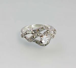 9907178 925er Silber Ring weiß  Neu  Gr.59