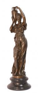 999376456-dss Bronze Skulptur Hebe Göttin der Jugend mit Amphore Figur neu