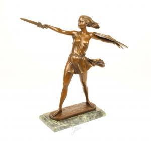 9973298-dssp Bronze Skulptur Amazone neu