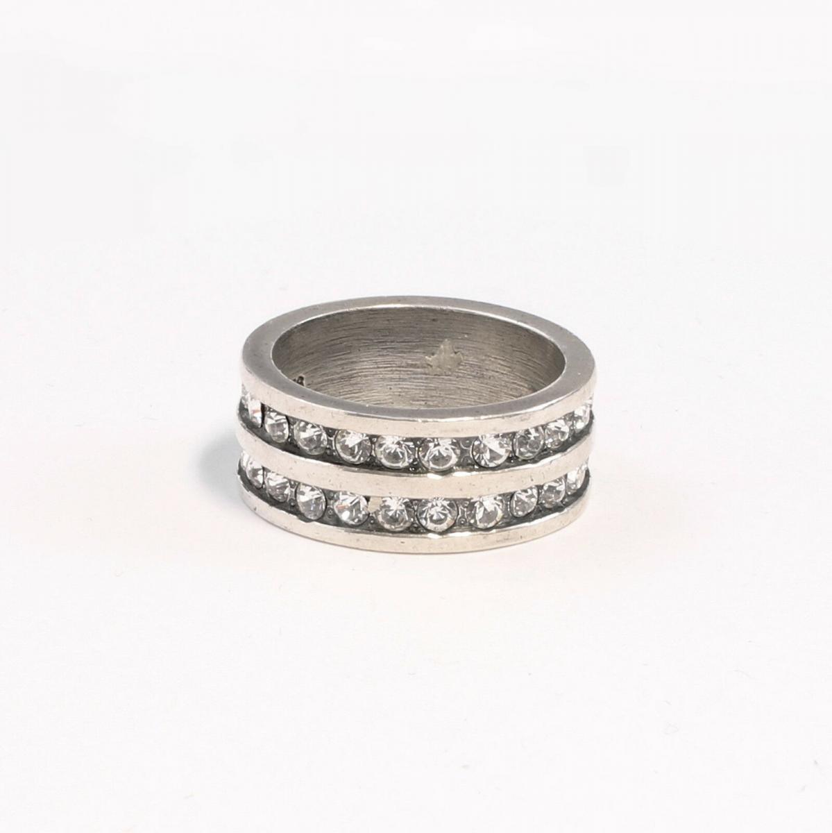 9901349 925er Silber Ring mit Swarovski-Steinen Gr. 52/53 0
