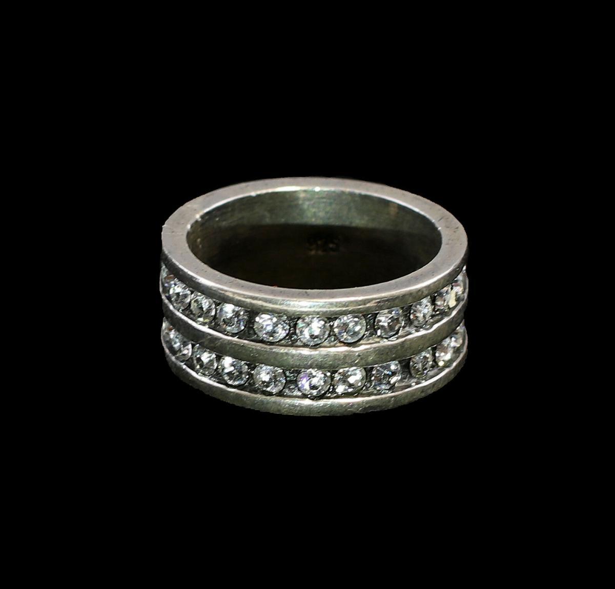 9901349 925er Silber Ring mit Swarovski-Steinen Gr. 52/53 1
