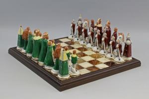 9959509 Porzellan Figur Schachspiel Ernst Bohne Rudolstadt