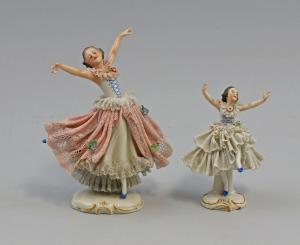 8440009 Porzellan Figur 2 Spitzen-Tänzerin Rudolstadt