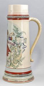 99848002 Großer Sänger- Bierkrug Bier-Humpen um 1900