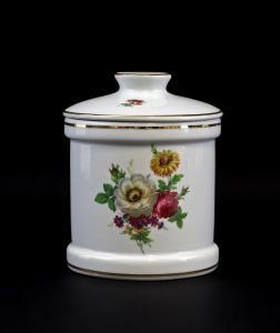 9947206  Porzellan Gebäck-Dose Kämmer Vergissmeinicht Blumen 13x16cm