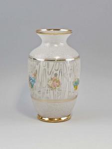 99835267 Glas Vase 60er Jahre Goldstreifen Vintage