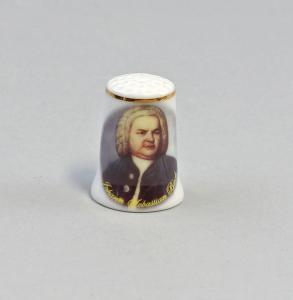 9911064 Porzellan Fingerhut Bach Portrait Reutter H3cm