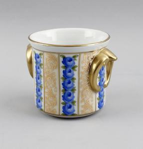 Porzellan Blumentopf Übertopf Blumendekor Golddekor 9987084