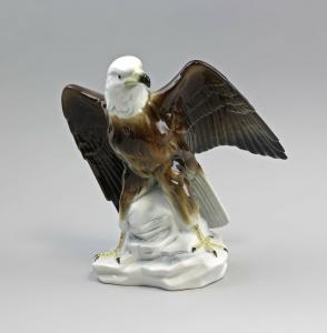 Porzellan Figur Weißkopfadler Gräfenthal bunt  Thüringen 9943068