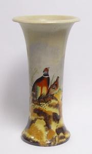 99937871-dss Messing Keramik Bodenvase Vase Fasan 19x36cm