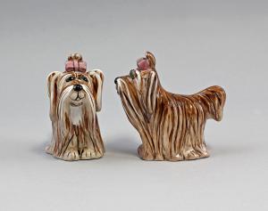 9952083 Keramik Figur-Salz/Pfeffer-Steuer  Hunde Jameson&Tailor H9cm
