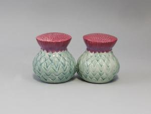 9936044 Gewürz-Streuer-Paar Thistles Distelblüte Keramik