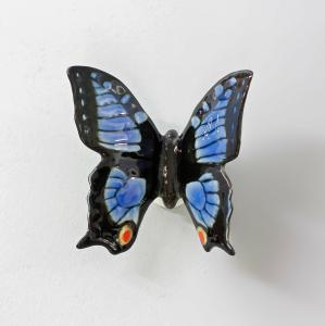 9997521 Porzellan Figur Ens Schmetterling blau B 7 cm H 6,5 cm