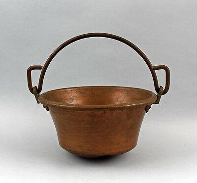 99833066 Henkeltopf Kupfer Bügelhenkel aus Eisen antik 0