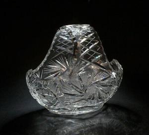 99835341 Glas Kristall-Korb Kristallglas geschliffen