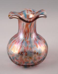 99835171 Glas Vase im Jugendstil  Irisierung Kröselaufschmelzungen