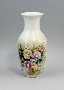 Porzellan Kleine Vase Blumenmalerei signiert