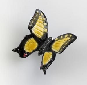 Porzellan Figur gelber Schmetterling Ens 7x7x4,5cm 9941415