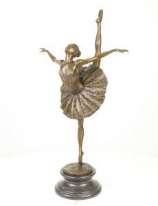 9973591-dss Große Bronze Skulptur Figur Ballett Tänzerin Ballerina 36x20x66cm