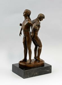 9937825-dss Bronze Skulptur Patoue männlicher Akt LGBT 13x10x27cm