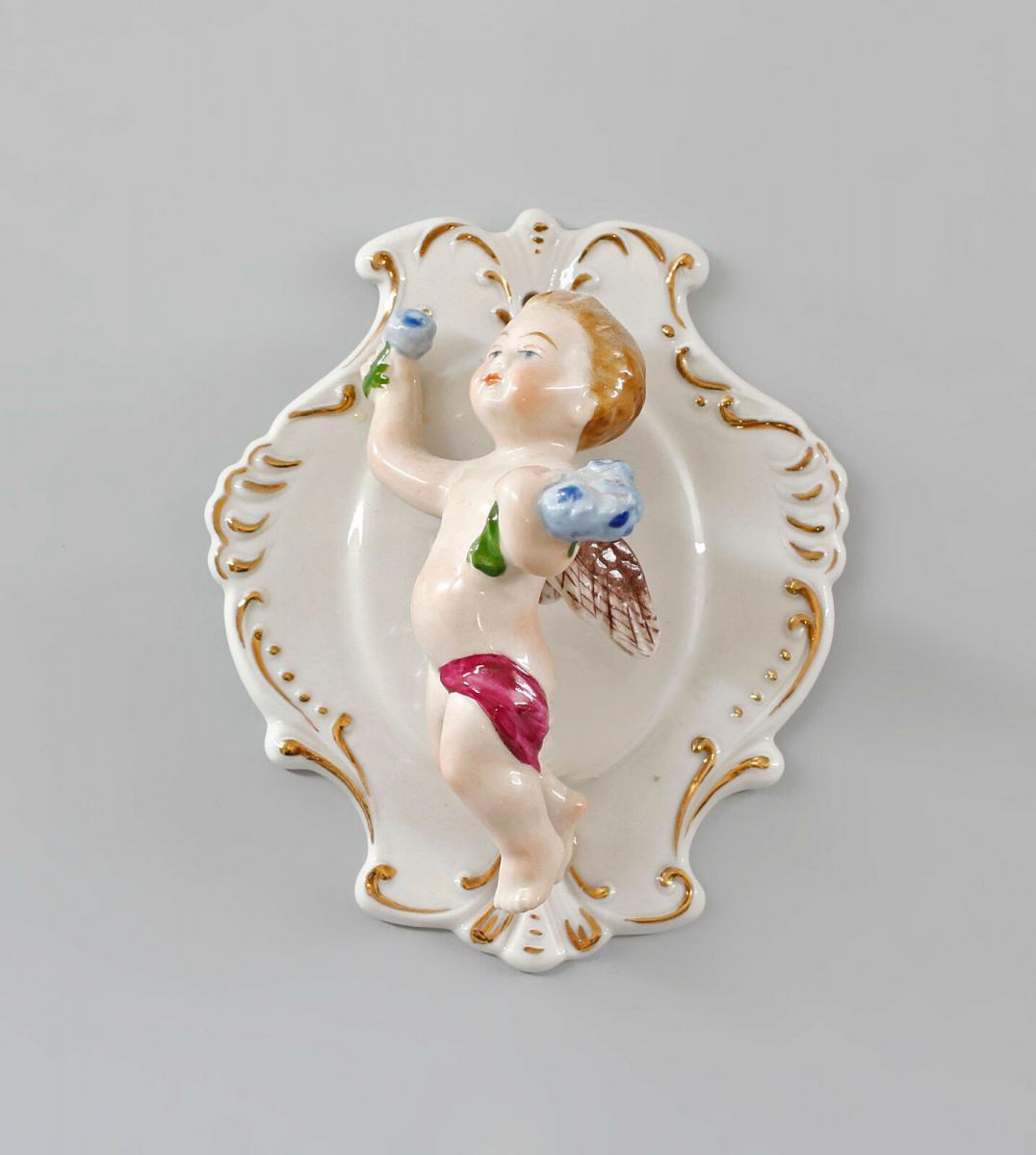 9997330 Porzellan Figur Engel Wanddekoration Ernst Bohne 9x11x5cm 0