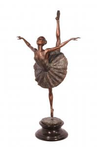 99937663-dss Bronze Skulptur Ballett Tänzerin Ballerina 36x21x66cm