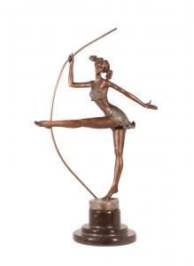 99937993-dss Bronze Skulptur Artistin Tänzerin Ballerina Figur erotisch H38cm