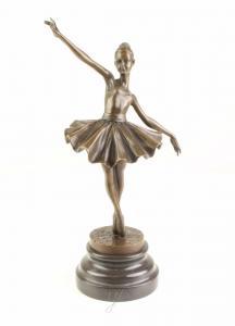 9973433-dss Bronze Skulptur junge Ballerina Relevé 10x14x32cm