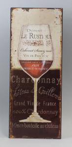 9973206 Reklameschild Blechschild Weinglas Vintage Nostalgie