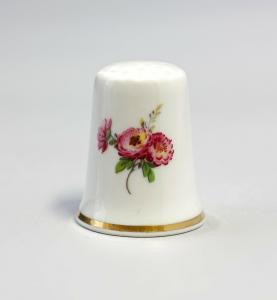 9988216 Kämmer Porzellan Fingerhut Blume Pfingstrose 2,5x2,6cm
