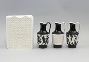 8440094 4 Porzellan Designer Vasen 60er/70er Jahre Fürstenberg DDR