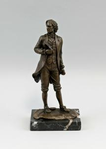 9973047-dss Bronze Figur Skulptur Beethoven Komponist H22cm