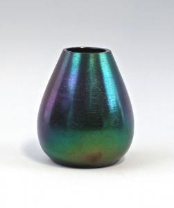 8435015 Lüstrierte Glas Vase Kralik Böhmen Jugendstil um 1900