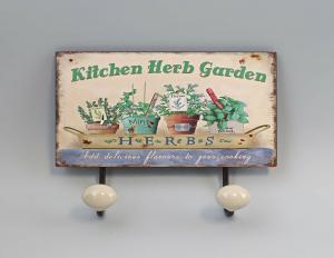 9973164 Haken-Leiste Metall Kräutergarten Blumentöpfe Vintage Shabby Chic