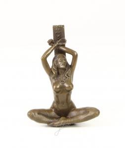 9973246-ds Bronze Skulptur Mädchen Akt erotisch 14x6x10cm