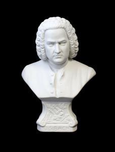 9944080 Kämmer Bisquit Porzellan Büste Johann Sebastian Bach groß H20cm