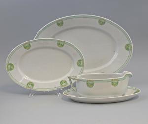 8540042 3 Porzellan Vorlegeteile Jugendstil Hutschenreuther Sauciere Platten