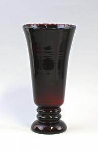 8535044 Glas Vase Bayerischer Wald um 1920 Rubinglas