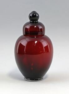 8535053 Glas Tee-Dose Steigerwald'sche Regenhütte Art déco Bayern um 1925