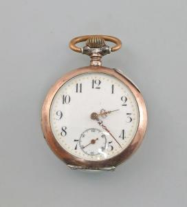 8520002 Silberne Taschenuhr um 1890 800er Silber