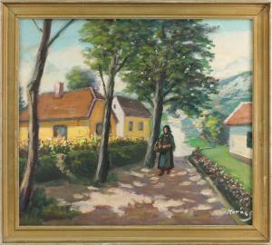 8560012 Öl-Gemälde Koray Ungarisches Dorf