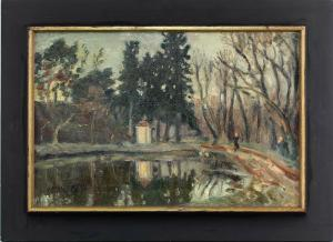 8560013 Öl-Gemälde Ott Weiher im Park