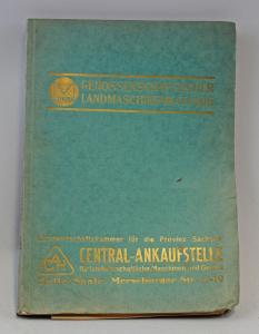 8355018 Genossenschaftlicher Landmaschinenkatalog 1930/31