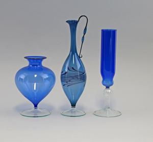 8335052 3 Vasen Lauscha Thüringen blau